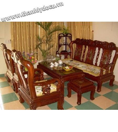 Thanh lý bộ bàn ghế gỗ hương 6 món