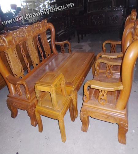 Cần bán bộ bàn ghế gỗ nghiến cũ giá tốt