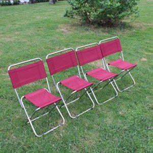 ghế dù xếp inox