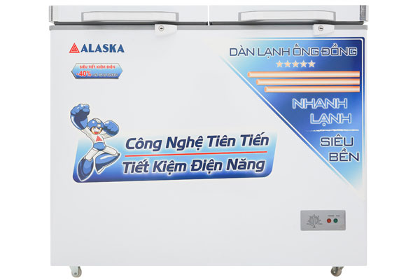 Thanh lý tủ đông mát alaska 2 ngăn