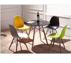Bộ bàn ghế cafe chân gỗ