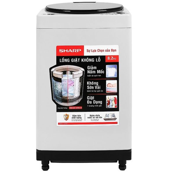 Máy giặt Sharp 8.2kg ES-W82GV-H mới
